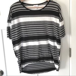 LuLaroe Black and White High-Low Top